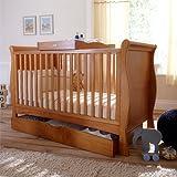Izziwotnot Bailey 3 Piece Cot Bed Furniture Set, Oak