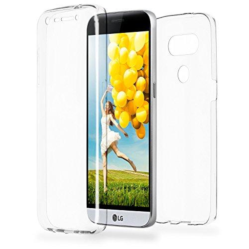 Doppia cassa come nome del LG G5 | Trasparente Custodia in silicone copre l'intero | Thin 360° completa casi di smartphone per OneFlow | Quarta di copertina in Incolore