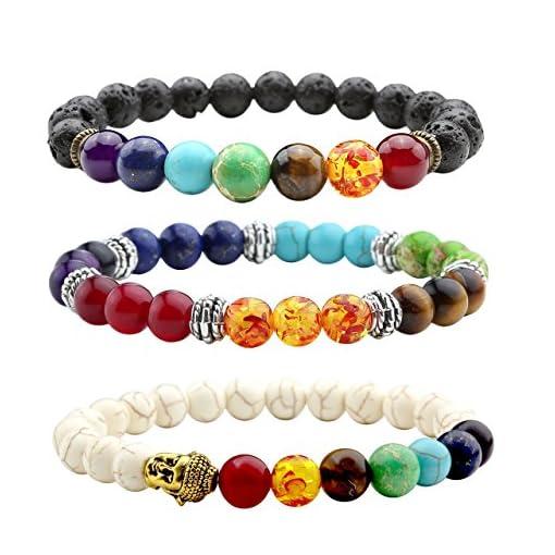JOVIVI-3x-Lava-Armband-Damen-Herren-Energietherapie-Yoga-Armband-Wei-Trkis-7-Stein-Chakra-Healing-Balance-Buddha-Armband