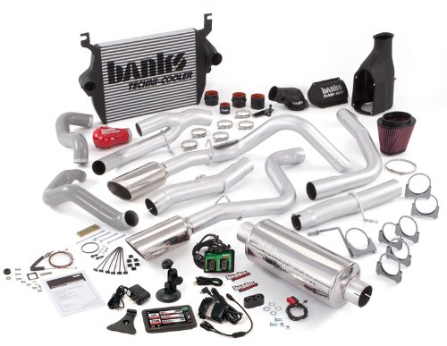 Banks Power 46503 PowerPack System; Performance System; Incl. EconoMind Tuner/Banks iQ/Banks Ram-Air Intake/High-Ram Intake Manif/Techni-Cooler Intercooler/Monster Exhaust; Duals;