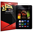 KlearCut [3 Pack] - Screen Protector for Amazon Kindle Fire HDX 7 - Lifetime Replacement Warranty Anti-Bubble & Anti-Fingerprint High Definition (HD) Clear Premium PET Cover - Retail Packaging