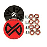 Punisher Skateboards Pro ABEC-7 High-Speed Skate Precision Bearings with Spacers, Red