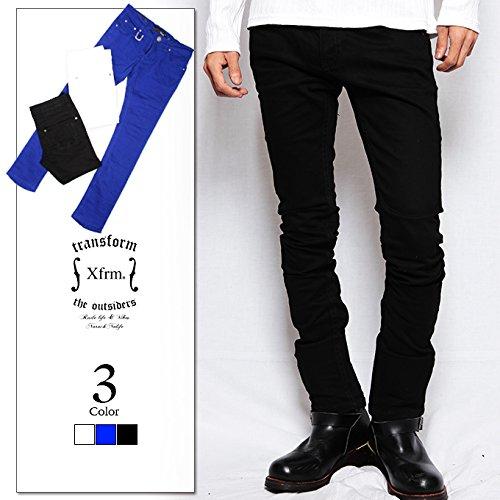 Amazon.co.jp: XFRM Plain Color スキニーパンツ ブラック ホワイト ブルー 黒 青 白 114306006: 服&ファッション小物通販