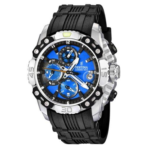 Festina F16543/5 - Reloj cronógrafo de cuarzo para hombre con correa de caucho, color negro