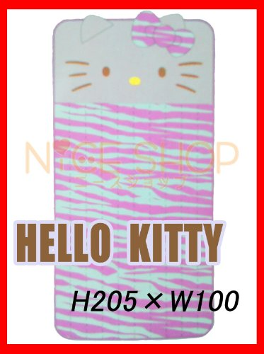 Hello Kitty pile kneeling パッドゼブラ pattern ♪ single size ♪ corners with rubber bands! pink