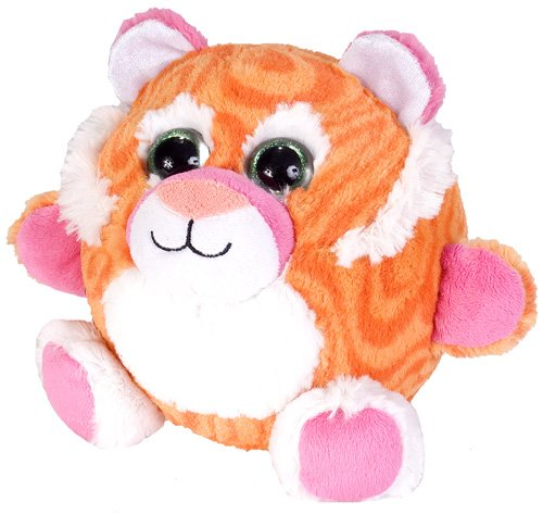 Wild Republic Fuzzball Tangerine Tiger Plush