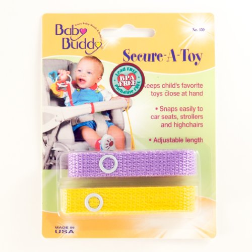Baby Buddy Secure-A-Toy, Lilac/Yellow front-545954