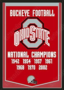 Dynasty Banner Of Ohio State Buckeyes-Framed Awesome & Beautiful-Must For A... by Art and More, Davenport, IA