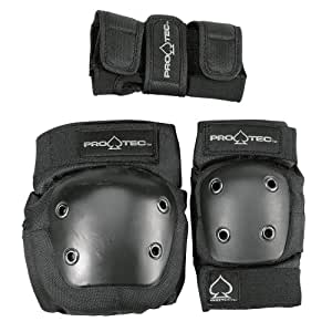 Protec Jr. Knee/Elbow/Wrist Combo Pad (Black)
