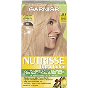Garnier Nutrisse Ultra Color Hair Dye, LB3 Ultra Light Beige Blonde
