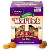 """THREE DOG BAKERY """"Woof"""" 2 Favorite SOFT Baked Cookie Flavors For Dogs (Peanut Flavor Cookies, Oats & Apples Cookies) ALL NATURAL !!! (64 OZ)"""