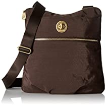 Baggallini Gold International Hanover Crossbody, Java