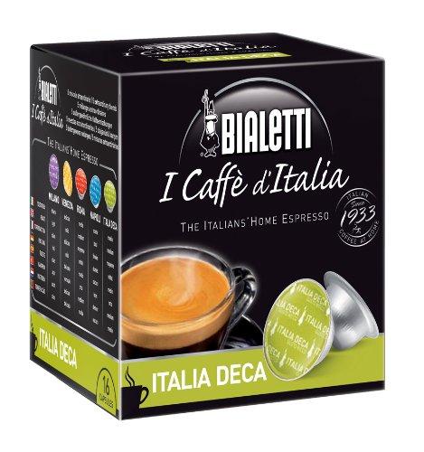 Bialetti 096080094/m - Set di 16 capsule di caffè decaffeinato compatibili con macchina da caffè Bialetti