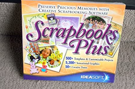 Scrapbooks Plus: Preserve Precious Memories with Creative Scrapbooking Software (500 Templates & Customized Projects, 5300 Sensational Graphics, 50 Creative Fonts)