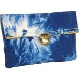 Frenzeee Essential Tie Dye Clutch - Blue