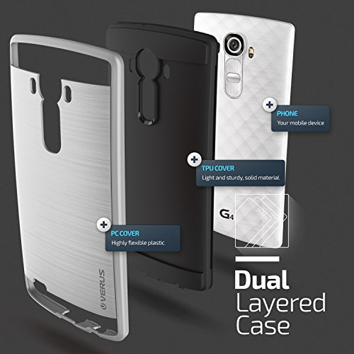 verus verge series lg g4 case satin silver tech