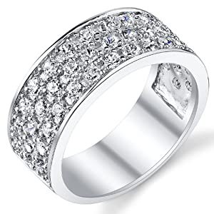 sterling silver men 39 s wedding band engagement ring with cubic zirconia