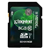 Kingston 8GB Class 10 SD SDHC Memory Card For Canon Ixus 255 HS Camera