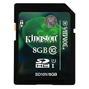 Kingston 8GB Class 10 SD SDHC Memory Card For GoPro HD HERO2 Motorsports Edition Camcorder