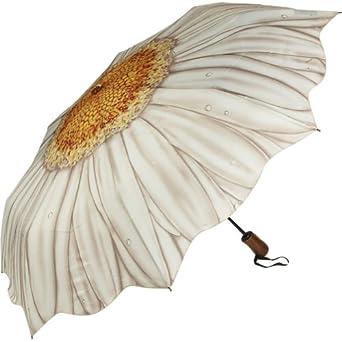 Galleria White Daisy Folding Umbrella - White Daisy