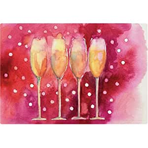 "Magic Slice Non-Slip Flexible Cutting Board, Party Size 7.5"" x 11"" , Bubbly Fun by Michael Clark"