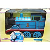 """THOMAS THE TRAIN TANK ENGINE WOODEN PULL TOY - Large 9"""" Long & 6"""" Tall - by Kid Classics LEARNING CURVE"""