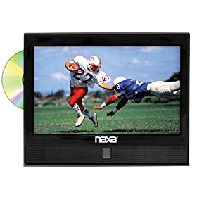 NAXA NTD-1351 13.3-Inch Widescreen HD LED TV with Built-in Digital TV Tuner and DVD Player