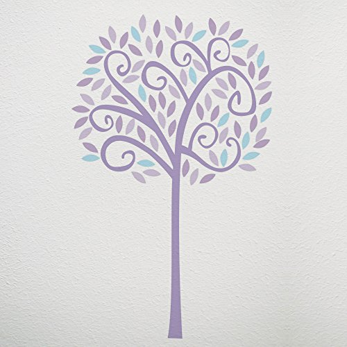 CoCaLo Violet Jumbo Tree Wall Decal Set, Lavender