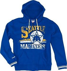 Seattle Mariners Mitchell & Ness Start of Season Full Zip Sweatshirt - Royal by Mitchell & Ness
