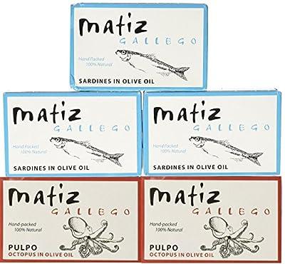 Matiz Gallego Sardines and Gallego Pulpo Octopus in Olive Oil from Matiz