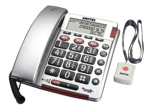 SWITEL - TF52 - TÉLÉPHONE FILAIRE AVEC TOUCHES XL/ALARME