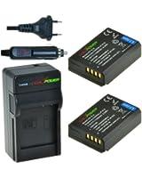 ChiliPower Canon LP-E10 Kit: 2x Batteria (1150mAh) + Caricabatteria per Canon EOS 1100D, EOS Rebel T3, EOS Kiss X50