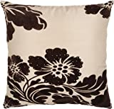 Rizzy Home T-3069A 18-Inch by 18-Inch Decorative Pillows, Cream/Brown, Set of 2