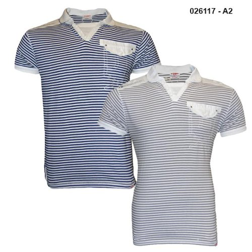 Mens D-Struct Cotton Striped Polo T-Shirt A2 Size Large