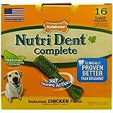 Nylabone Nutri Dent Large Chicken Flavored Bone Dog Treats, 16 Count