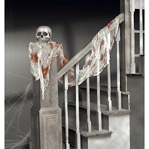 Dekotuch Blutige Gaze 46 x 240 cm Halloween Dekoration Horror Deko Tuch Raumdeko Raumdekoration