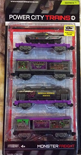 Jakks Pacific Power City Trains Monster Freight - 4 train cars Series 7 - 1