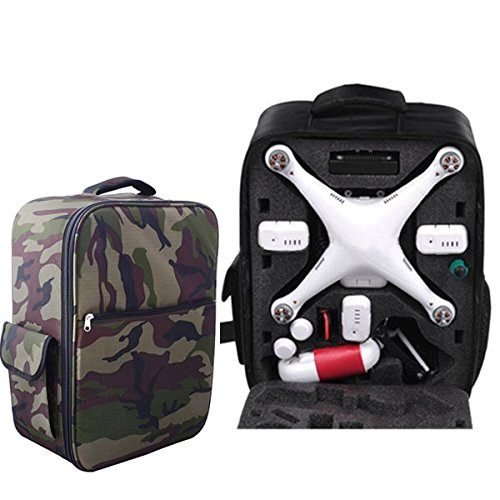 1 Of 3 Color Waterproof Backpack For Qr X350 Dji Phantom 1 Phantom 2 Vision+ Fc40 - Color:Camouflage