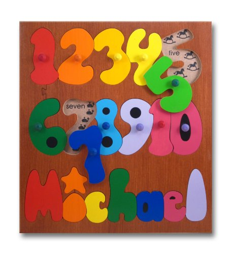 Picture of KidPuzzles Kids Wooden Name Puzzle Counting Numbers (B00564HKLC) (Pegged Puzzles)