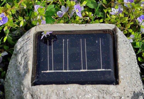 Solarlampe LED Leuchte Stein-Optik, 3 Stück Solarleuchten