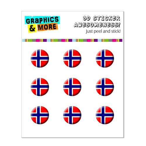 Graphics and More Norway Norwegian Flag Home Button Stickers Fits Apple iPhone 4/4S/5/5C/5S, iPad, iPod Touch - Non-Retail Packaging - Clear - 1