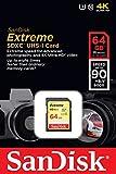 SanDisk Extreme SDXC UHS-I/U3 SDSDXNE-064G-GNCIN Memory Card, 64GB