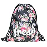 Beutel Fresh Fullprint Turnbeutel All Over Gym Bag Tasche Floral