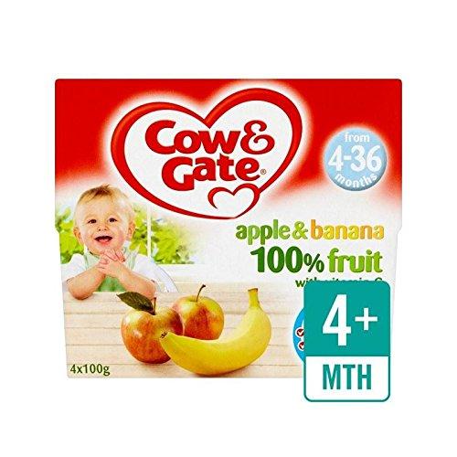 Mucca E Cancello Di Mele E Banane Frutta Pentole 4 X 100G - Confezione da 4