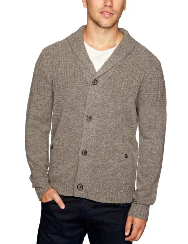 Henri Lloyd Fathom Shawl Neck Men's Jumper Taupe Small