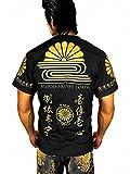(ブラッドマネートーキョー) BLOOD MONEY TOKYO 12039黒×金 長袖Tシャツ ロンT 菊水家紋 和柄 梵字 服 M