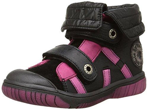 Babybotte - Artisnow2, Sneakers per bambine e ragazze, nero (419 noir/fuchsia), 24