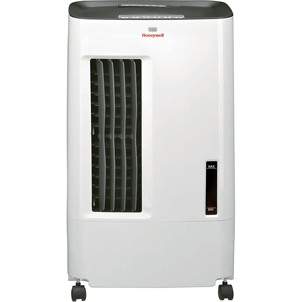 Honeywell CO25AE 52 Pt. Indoor/Outdoor Portable Evaporative Air Cooler with Remote Control   Grey