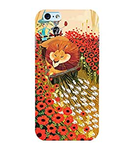 Fuson Premium Back Case Cover Cartoon With yellow Background Degined For Apple iPhone 6