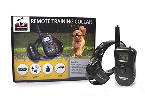 Rechargeable Remote Control Dog Training Collar with Vibration, Shock, Tone. Waterproof, Submersible, Safe Behavior, No Jump, No Bark, Sport, Obedience, 900+ feet, Downtown Pet Supply (Downtown Pet Supply compare prices)